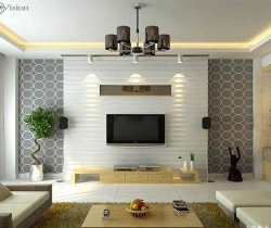TV units designed with lighting