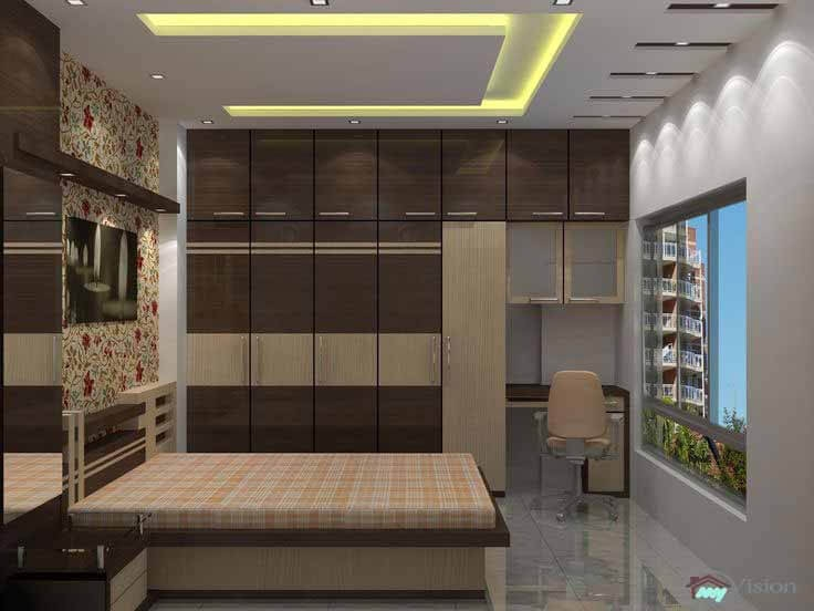 Best bedroom interior designers in hyderabad cupboard for Apartment interior design hyderabad