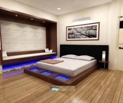 bedroom with scenerie