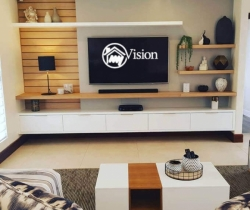 modern wall mounted tv unit my vision
