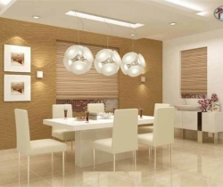 white lighting dining room