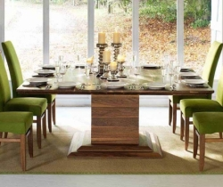 green chairs dining rooms