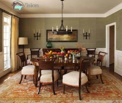 decorating dining room with fruits