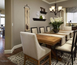 dining room with designing dining table