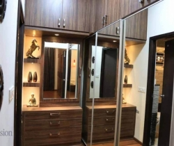 mirrored wardrobe dressing room