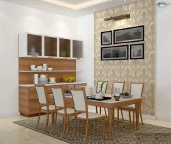 dining room designed with chairs