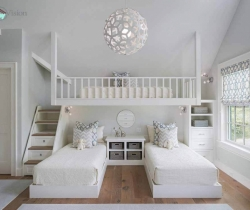 white color kids room