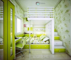 parrot green color kids rooms