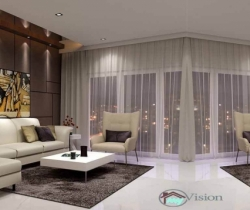 living room with furniture design