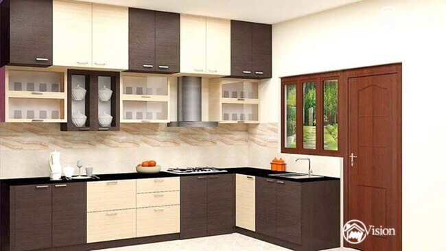 indian kitchen interior - 13+ Small House Low Cost Kitchen Design PNG
