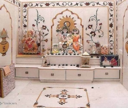 wall designing pooja rooms
