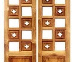 pooja rooms designed wood doors