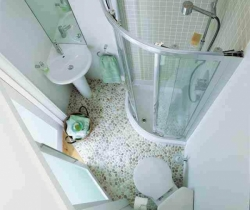 bathroom designed with showers